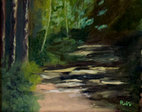 Wooded Path - study en plein air