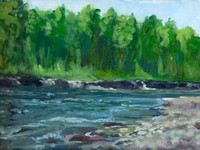 Sheep River - study en plein air