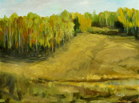 Autumn Calm - a plein air study